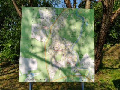 Mapa Puszczykowa i okolic rzeki Warty